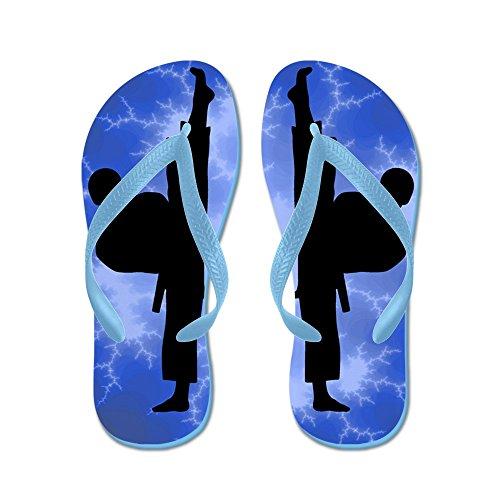 Kickep Boy Karate Kickers - Infradito, Sandali Infradito Divertenti, Sandali Da Spiaggia Blu Caraibico
