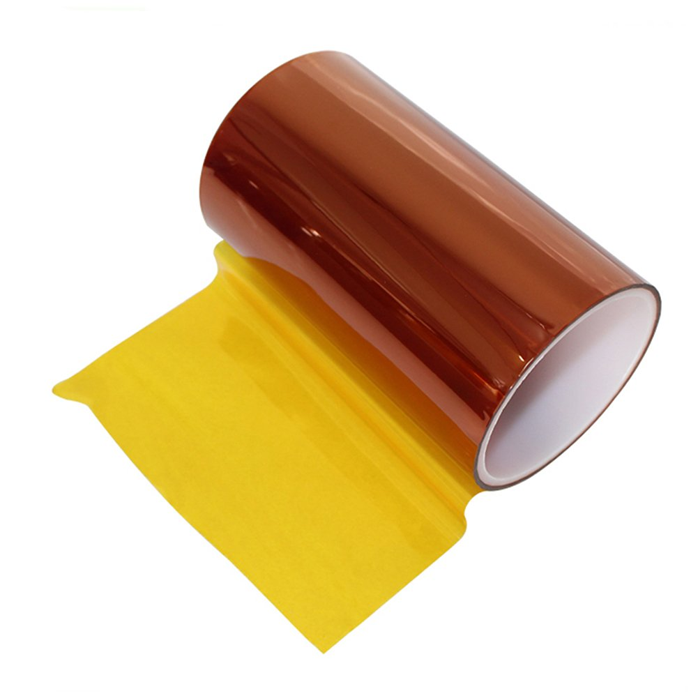 BOMEI PACK 9'' x 36 yds Polyimide Film Tape Silicone Adhesive Masking Roll for 3D Printer Platform