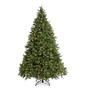 National Tree (PEDD1-312-100) Feel-Real Downswept Douglas Hinged Tree with 1000 Clear Lights 40