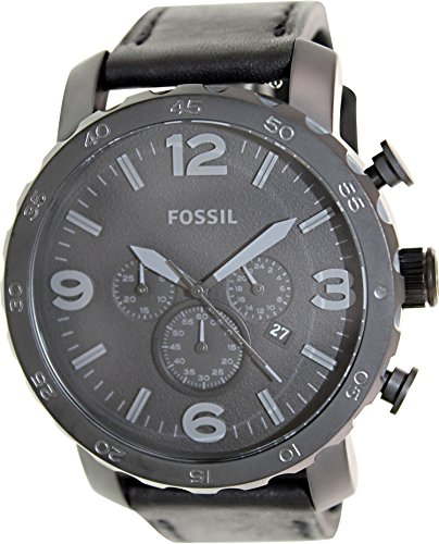 Fossil Men's JR1354 Nate Stainless Steel Chronograph Watch (Large Image)