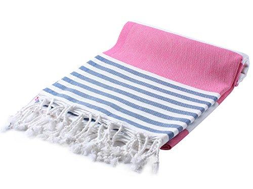 (Cacala Marina Series Peshtemal Turkish Hammam Bath Towels, Traditional Peshtemal Design for Bathrooms, Beach, Sauna, Ultra-Soft, Fast-Drying 37x70 100% Natural Cotton Dark)