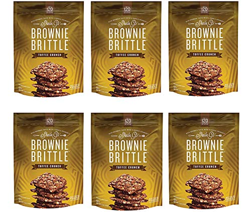 Brownie Brittle, 5 Ounce, Toffee Crunch (120 calories per ounce),(Pack of 6) (Packaging May Vary)