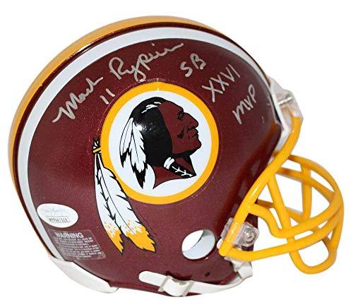 (Autographed Mark Rypien Mini Helmet - MVP 13052 - JSA Certified - Autographed NFL Mini Helmets)