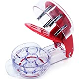 Cherry Pitter Kitchen Tool | Professional Cherry Stone Remover | Dishwasher Safe Utensil, Non-Skid Base & Removable Pit Container | Protect Your Clothes, Eliminate Mess & Counter Stains | 6 Cherries