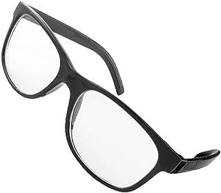 Adulte Black Full Rim Lens Clear Plastic Eyewear Lunettes