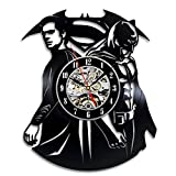 Cheap Superman Vs Batman Vinyl Clock Perfect Christmas Gift