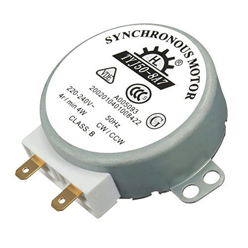 1pcs AC 220V-240V 50Hz CW/CCW Microwave Turntable Turn Table Synchronous Motor TYJ50-8A7 D Shaft 4 RPM