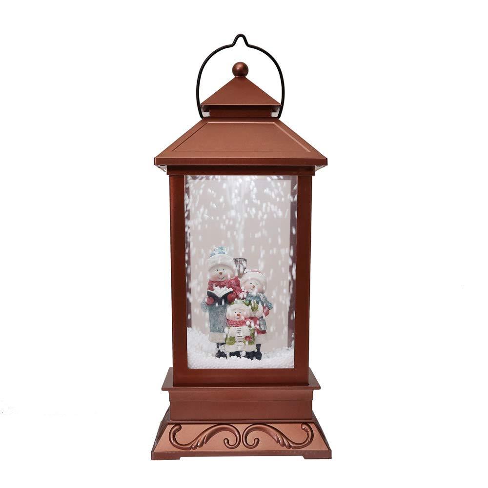 Huichang Creative Roman Inc Snow Globe Pendulum light, Water Globe Music Box We Wish You a Merry Christmas (Brown) Huichang_LED light