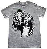 Suicide Squad Harley Quinn Wink Joker Mens Gray T-shirt L