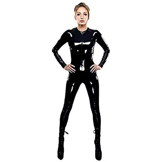 38c309227a9 GGTBOUTIQUE Sexy Black Latex PVC Bodysuit Cat Women Faux Leather Catsuit  Erotic Wet Look Bodycon Punk Fetish Jumpsuit Costume  Amazon.co.uk  Clothing