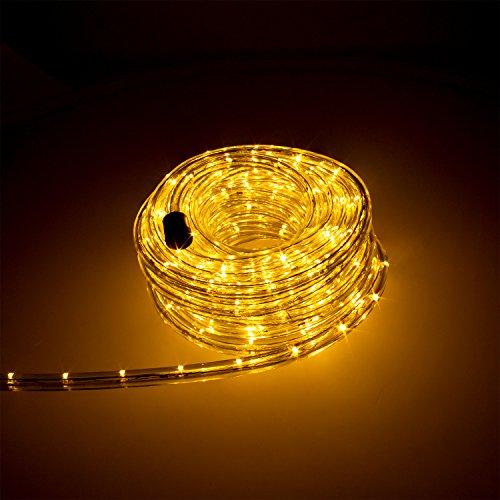 Smartfox LED Lichterschlauch Lichterkette Licht Schlauch 14m für Innen- und Aussenbereich mit 336 LEDs in Warmweiß