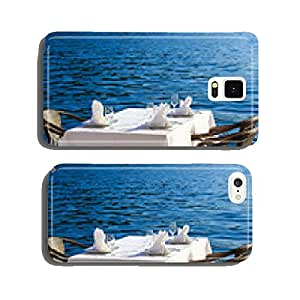 Scenic cafe table withe sea view cell phone cover case Samsung S6