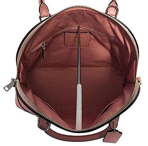 Coach Cross Grain Leather Sierra Satchel Crossbody Bag Purse Handbag (Blush)