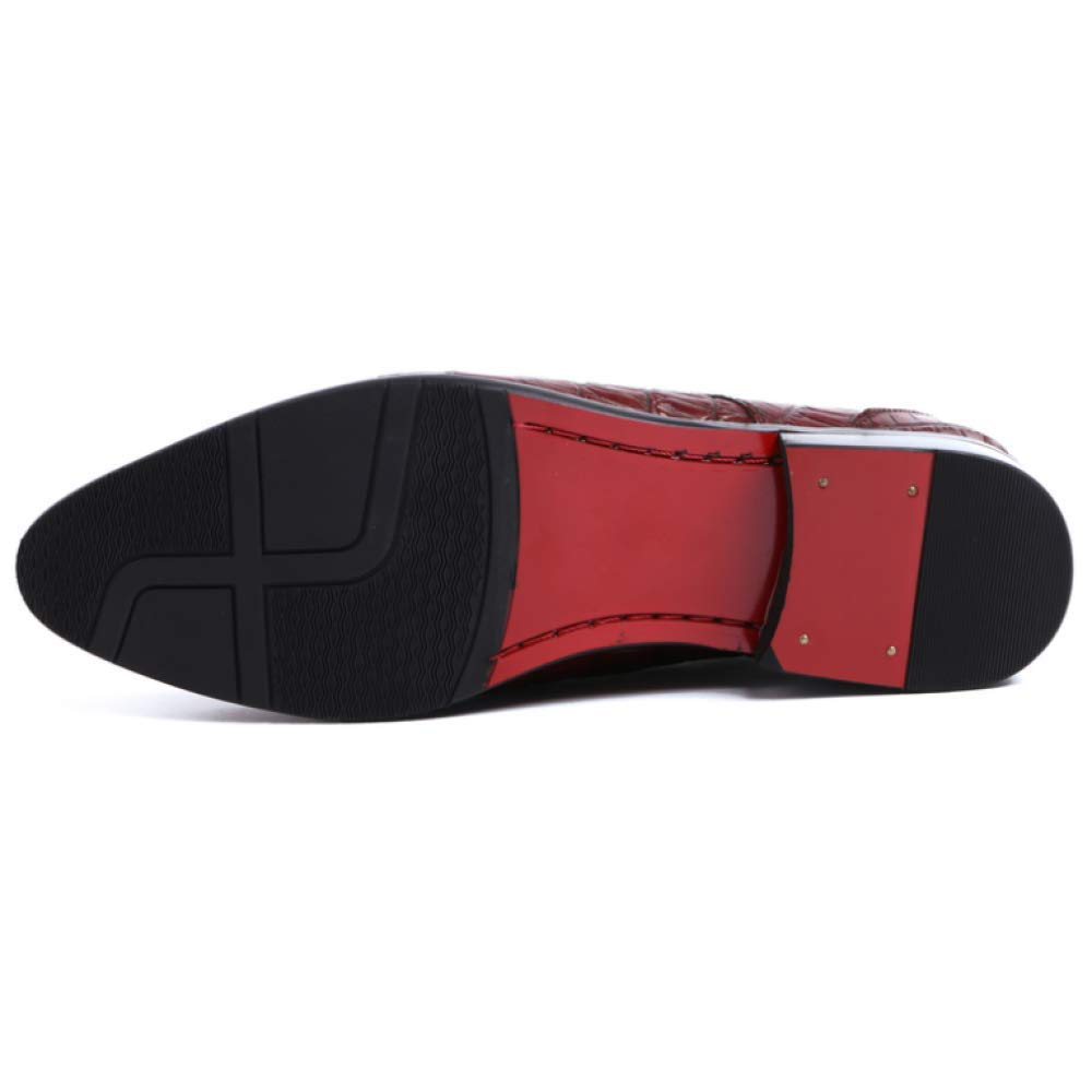 NIUMT Herren Lederschuhe Britischen Stil Wies Geschäft Casual Trend Trend Trend Schnürschuhe schwarz 7b2c5d
