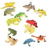 12PCS Frog Figures Simulation Decoration Kids Toy Colorful