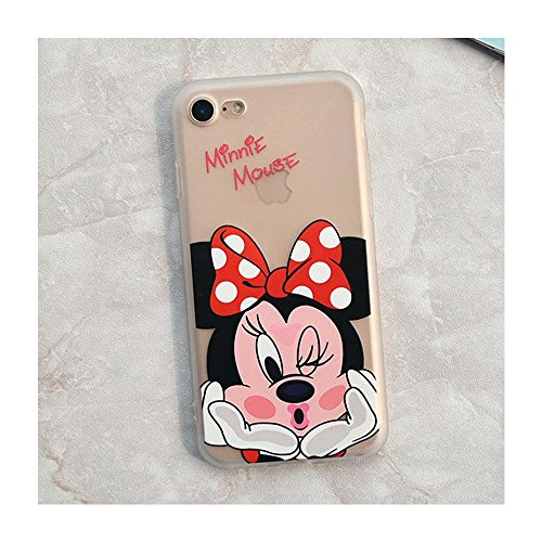 Minnie Mouse TPU Silicone Phone Case Back Cover For i phone 7 Plus or 8 Plus (I Phone 7 Plus or 8 Plus/Minnie) (Minnie Mouse Cover)