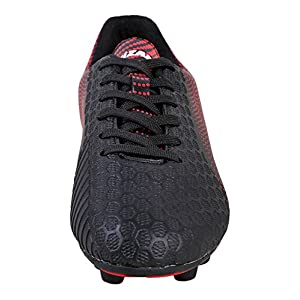 Vizari Youth/Jr Stealth FG Soccer Cleats | Soccer Cleats Boys | Kids Soccer Cleats | Outoor Soccer Shoes | Black/Red 2