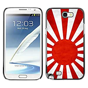 Shell-Star ( National Flag Series-Japanese Naval Ensign ) Snap On Hard Protective Case For Samsung Galaxy Note 2 II / N7100