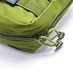 Yuan Ou Trousse de Secours Pouch Travel Green First Aid Kit Military Kit Medical Quick Pack 10