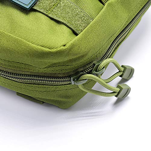 Yuan Ou Trousse de Secours Pouch Travel Green First Aid Kit Military Kit Medical Quick Pack 5