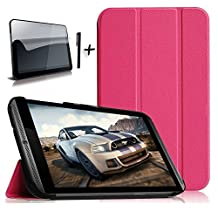 """Bestdeal® High Quality Ultra Slim Lightweight Smart Cover Stand Case for NVIDIA SHIELD Tablet K1 / NVIDIA SHIELD 8"""" inch Tablet PC + Screen Protector and Stylus Pen"""