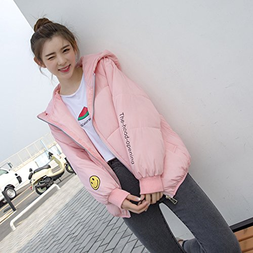 Xuanku Coat Pink Cotton Winter Paragraph Bread Short Cotton Jacket Cute Female Clothing Jacket Wind Harajuku Clothing Loose Cotton qTqxw75r4A