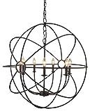 Moti Furniture Iron Globe Pendant