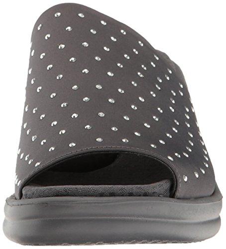 Skechers Cali Womens Rumblers Silky Smooth Wedge Sandal Charcoal