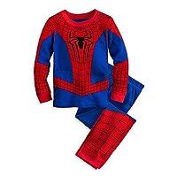 Disney Store Deluxe Spiderman Spider Man PJ Pajamas Boys Toddlers