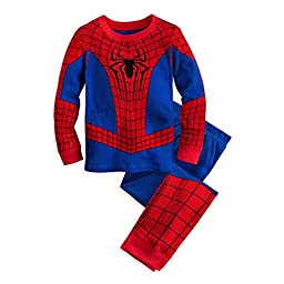 Disney Store Deluxe Spiderman Spider Man PJ Pajamas Boys Toddlers (XXS 2 Extr...