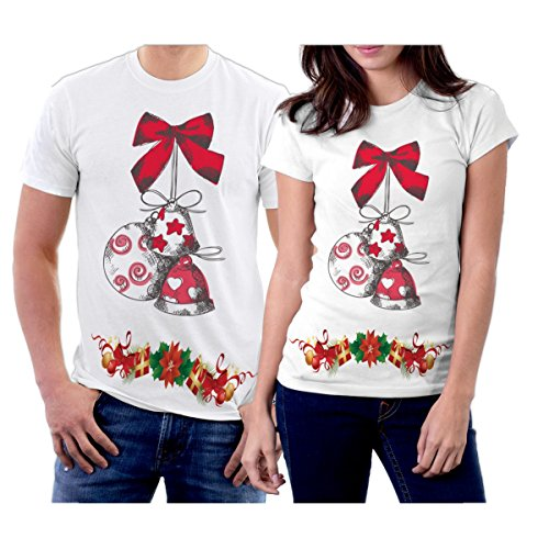 picontshirt Winter Christmas T-Shirts Collection Design 11 for Couple Size Men XL/Women (Qvc Gift Card)