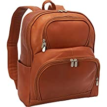 Piel Leather Half-Moon Laptop Backpack, Saddle, One Size