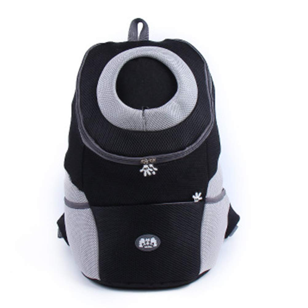 Black XLargeDog Cat Carrier Portable Light Luxury Soft Face Foldable Breathable Comfort Outdoor Travel Camping Mountain Climbing Pet Transport Backpack,Black,XL