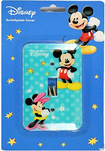 Disney Mickey Mouse Switch Plate Cover (Mickey and Minnie) by Disney