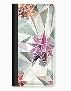 Geometric Triangle Pastel Pattern iPhone 5/5s Leather Flip Case