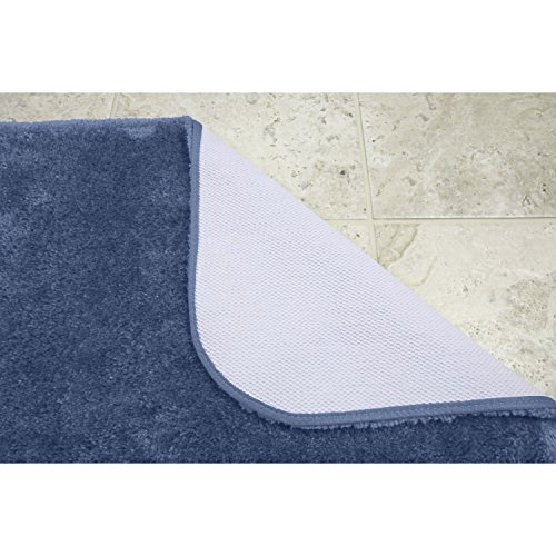 Maples Rugs Bathroom Rugs - Cloud Bath 30'' x 46'' Washable Non Slip Bath Mat [Made in USA] for Kitchen, Shower, and Bathroom, Federal Blue by Maples Rugs (Image #3)