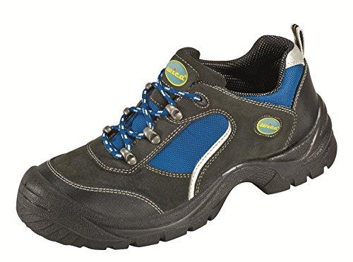 bleu Acier Sécurité Pur Rayure Réflexion Noir TextileEmbout Semelle Lucky Chaussures S1Daim De Basses En Line Avec MGpLUqSVz