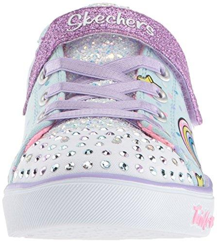 Skechers Kids Girls' Sparkle LITE-Unicorn Craze Sneaker, Light Blue/Multi, 9 Medium US Toddler by Skechers (Image #4)