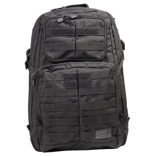 5.11 1 Day Rush Backpack, Black, 1 Size, Outdoor Stuffs
