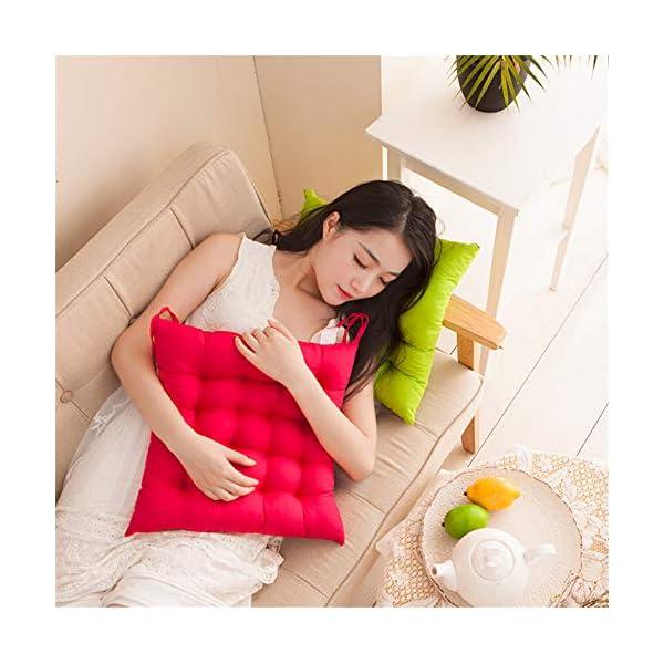 AGDLLYD Cuscino per Sedia, Cuscini per Giardino, per Dentro o Fuori,40x40x5 cm Cuscini da Sedia Trapuntati,Disponibile… 6 spesavip