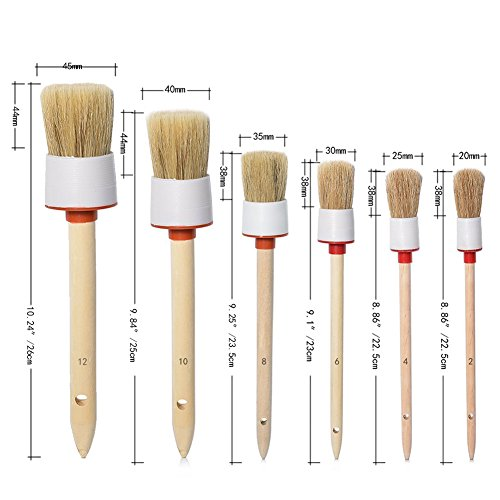 cocode natural boar hair detail brush set of 6 auto import it all. Black Bedroom Furniture Sets. Home Design Ideas