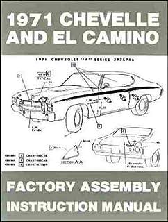 1971 Chevelle Wiring Diagram Manual Reprint Malibu Ss El Camino Gm Amazon Com Books
