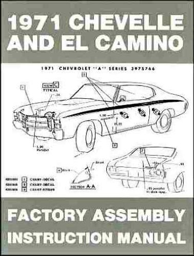 Chevelle and El Camino 1971 (Factory Assembly Instruction Manual)