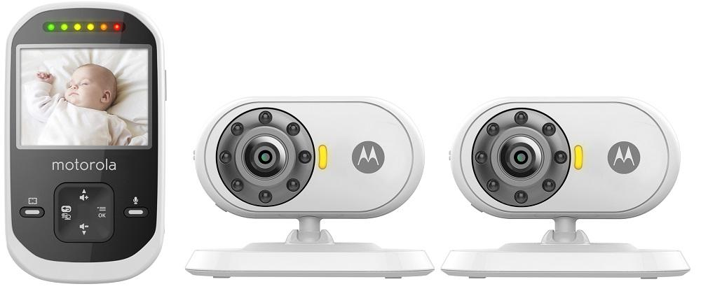 Motorola MBP25 Video Baby Monitor with 2 Cameras, 2.4 Inch