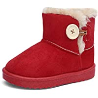 EQUICK Girl's and Boys Winter Snow Boots Fur Outdoor Slip-on Boots (Toddler/Little Kids)