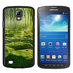 LECELL--Funda protectora / Cubierta / Piel For Samsung Galaxy S4 Active i9295 -- Misty verde Forrest --