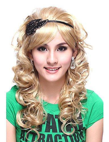 Fácil y forma cómoda y pelucas pelo europeo Capless Best Ordenador Calidad Kanekalon bonita Princesa Estilo