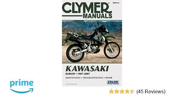 Kawasaki KLR650 1987-2007 (Clymer Color Wiring Diagrams ... on