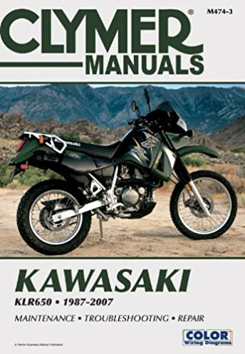 kawasaki klr650 1987 2007 clymer color wiring diagrams penton rh amazon com 2008 Kawasaki Wiring Diagrams 12 Volt Solenoid Wiring Diagram