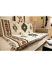 SHIYANTQ Tribal Etnische Geometrische Azteekse Navajo Deken Gooi Tapijten Sofa Art Decor Boheemse Deken, 160X260cm Big Size